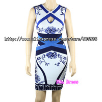 Free Shipping 2013 fashion  sleeveless  HL Bandage sexy Dress  Evening Dress Party Dress HL147