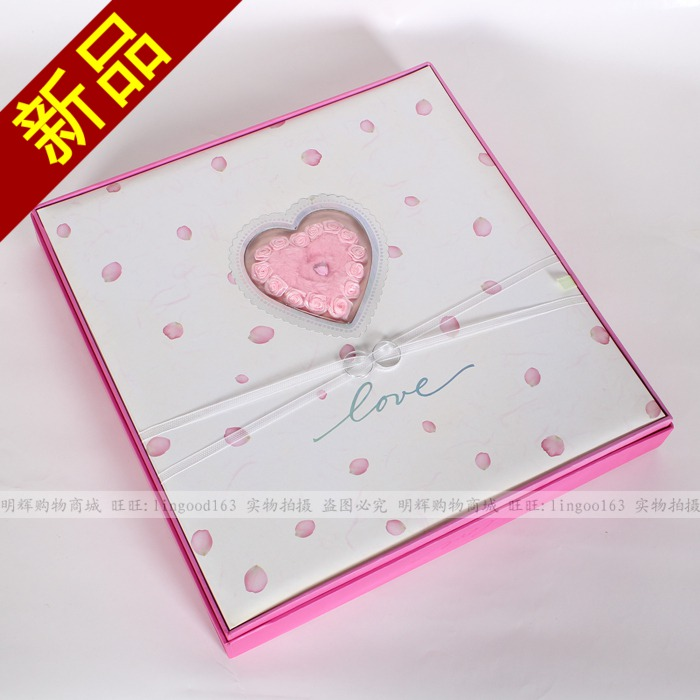 Free shipping 2013 Lovers gift boxed byelaya protective film paste type photo album diy married photo album 12 large capacity(China (Mainland))