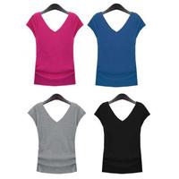 New 2014 Spring Summer 4 Colors Plus Size Cotton T-Shirt Women Short Sleeve T Shirt Blouse Women Clothing Tops XXXL 4XL SV825