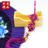 Chinese style lucky ball small chinese knot gifts abroad gift box free shipping  more with less