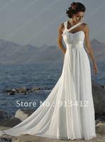 Free Shipping by Fedex or DHL Best Selling Simple and Elegant Bridal Dress Custom Made Cheap Beach Wedding Dress