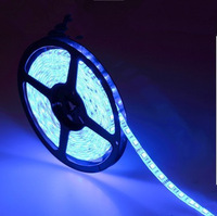 Retail- 5M 60led/M 300led 3528 LED Strip Light 12V Single color Lamp  Waterproof flexible led strip light Free Shipping