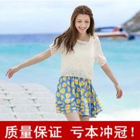 Summer spring twinset one-piece dress skirt spring chiffon one-piece dress summer shirt tank dress