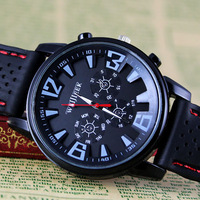High Quality 1pc New Pretty Fashion Business Man Mens Army Sport Silicone Rubber Watches, Free & Drop Shipping