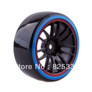 4pcs RC Hard Tires Tyre Wheel Rim Fit HSP HPI 1:10 On-Road Drift Car 9068