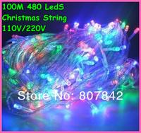 110v/220v 100M 480leds colorful RGB  fairy  led string light,party/wedding/holiday/led christmas tree decoration light