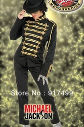 free shipping king costume for man cosplay michael jackson one set prince uniform suit(China (Mainland))