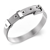 The reticular silver women titanium steel Bracelet
