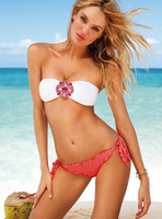 Hot!!! 2013 New Fashion High Quality Women Swimwear Sexy Bikini Set Diamond Bandeau Push-up size S /M/ L [A01000301]