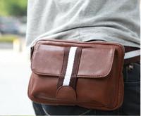 2013 men's fashion  sports waist pack PU bag messenger bag multi-purpose waist bag free shipping 1207