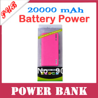 20pcs/lot Free Shipping 2013 Newest Wallet style With LED Lighting function 20000mAh Power Bank External Battery Pack