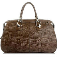 2013 New Promotional Free Shipping Crocodile Vein Genuine Leather Bags Designer Brand