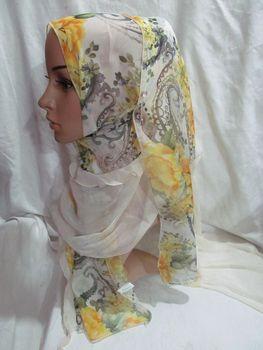 Flowers Chiffon Muslim Scarf,Shawl,Muslim Hijibs,F171