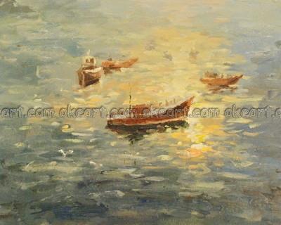 Gratis de pinturas al óleo sobre lienzo moderno de estilo art