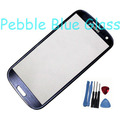 Original Pebble Blue Outer Screen Top Glass for Samsung Galaxy S3 S 3 SIII i9300 i535 L710 i747 T999 + 7 Tools + Adhesive(China (Mainland))