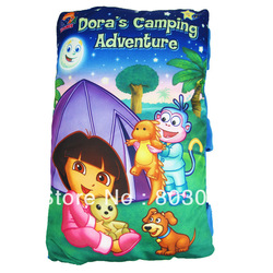 Free Shipping Novelty Storybook Pillow, Dora's Camping Adventure, Baby Cognitive Cloth Book Toy(China (Mainland))