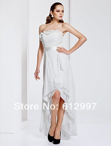 Free shipping new arrival 2013 discount custom made modern high low bridemaids dresses wedding party gowns all size(China (Mainland))