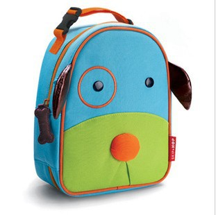 Free Shipping Hot Sell Kids Animal Cartoon Lunch Bag / Cute Dog Heat Protecting Bag(China (Mainland))