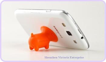 30PCS Kawaii Cartoon Piggies Phone Stand Holder; Cell Mobile Phone 4S 5 Stand Holder Display Holder Rack + Dust Plug Phone Strap