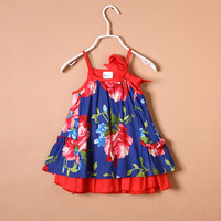 Children's clothing female child summer one-piece dress 13 child one-piece dress female child layered dress fashion female child