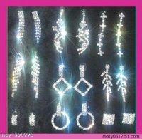 Wholesale 12 pairs Crystal Rhinestone Bridal Antique Vintage Earring Eardrop Bling Charms