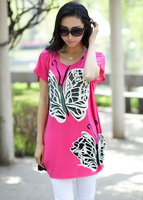 2013 summer women's diamond fancy short-sleeve loose plus size large loose one-piece dress  lady's shirt