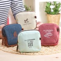 Korean fashion style Vintage canvas coin purse mini  wallets coin purse female coin case,free shipping