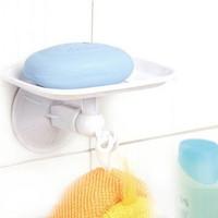 Free shipping.Shuangqing  single suction wall hook soap holder soap dish
