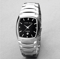 Langbao Tungsten steel quartz watch lovers spermatagonial table female fashion brand watches waterproof