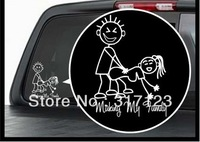 Free shipping (100 pieces /lot) Wholesale Making my family Vinyl Decal / Window Sticker Stick Figure Sexy Bad Car Decal