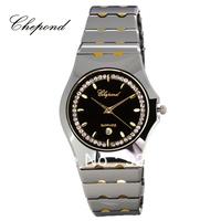 Chepond Swiss Brand Tungsten Steel Inner Gold Lovers Watch Fashion Calendar Inlaying Diamond Waterproof Lovers Commercial Watch