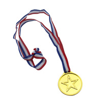Toy plastic gold medal toy party supplies