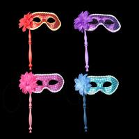 Beauty halloween handheld mask dance party mask beautiful cloth mask flower ruslana korshunova mask