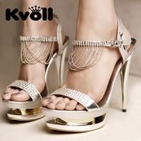 2013 elegant summer sandals kvoll elegant metal high-heeled sandals diamond tassel sandals