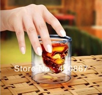 12PCS Newest Doomed Crystal Skull Shot Glass,Crystal Skull Head Vodka Shot Wine Glass Novelty Cup