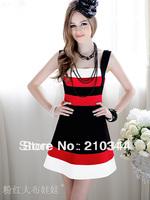 Free shipping Summer 2014 Luxury Designer Elegant Novelty Stripe Designer A pendulum Women's Bodycon Strap Dress