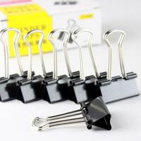 Free shipping black 25mm paper binder clip