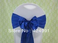 100pcs Hot Sale Royal Blue Satin Chair Sash For Weddings Events &Party Decoration