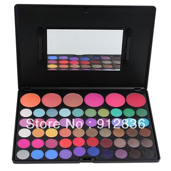 56Color Eyeshadow & Blush Makeup Palette 50 Shining Eye Shadow + 6 Blush Sixplus