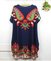Free shipping Summer new crystal plus size of flower nation dress cashew rhinestones dress wholesale