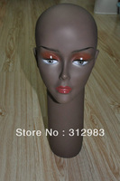 "Wholesale--Real Human Head Size PVC rubber mannequin head 16.75"" height (6pieces/lot  mix) wig/cap/neckless display"