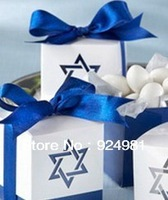 free shipping 100 Pcs blue star Wedding box Candy Box gift box wedding bonbonniere wedding favour boxes