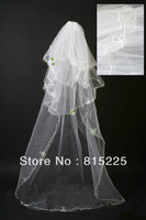 2013Upscale Tempting Empress Wedding Veil Bridal Veil Wedding Accessories Decoration Multi Layer Long Veil Ribbon Edge Whitezara