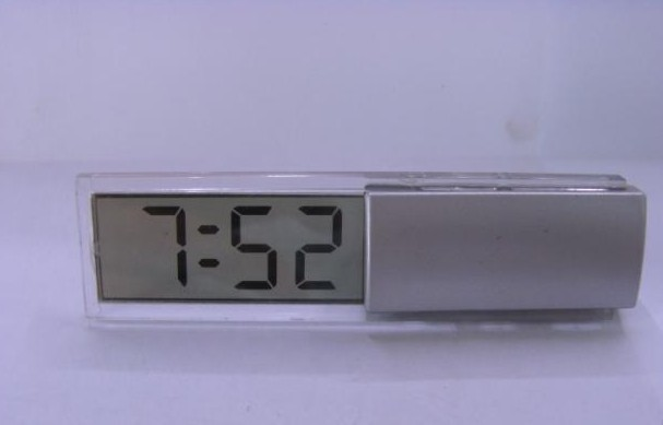 Table clock transparent strip clock small clock and watch office desk table small electronic logo(China (Mainland))