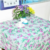 10 Pcs/Lot Mix Colors Disposable Table Cloth Size 180x180 cm Square Plastic Print Waterproof Dinning Tablecloth Free Shipping