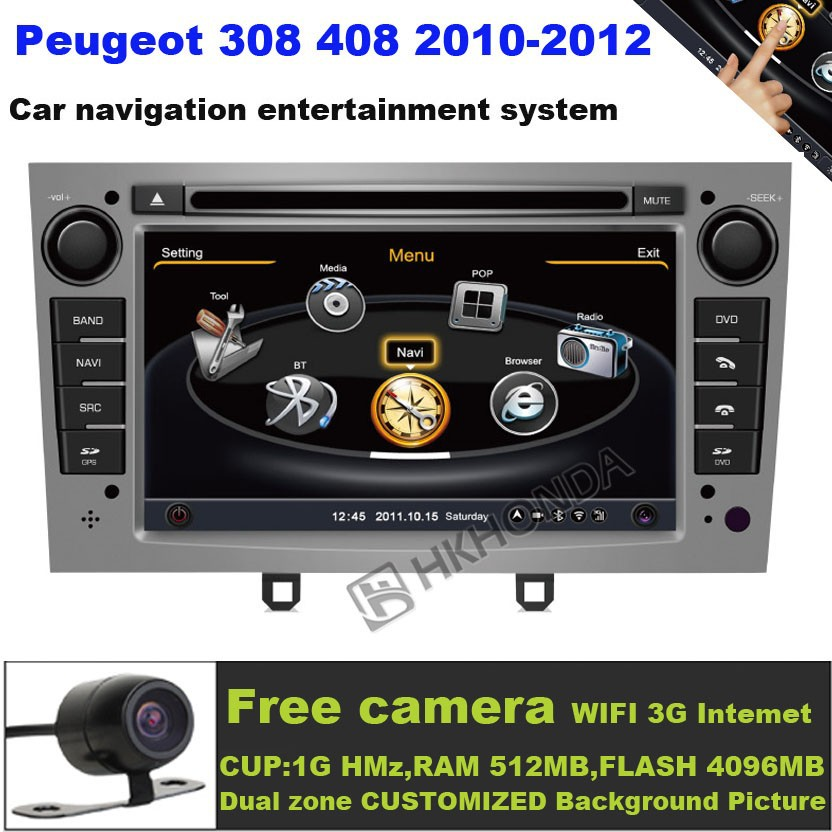 A8 S100 Car DVD Player 3G Wifi 20VCDC For Peugeot 408 2010-2011 free map +free shipping(China (Mainland))