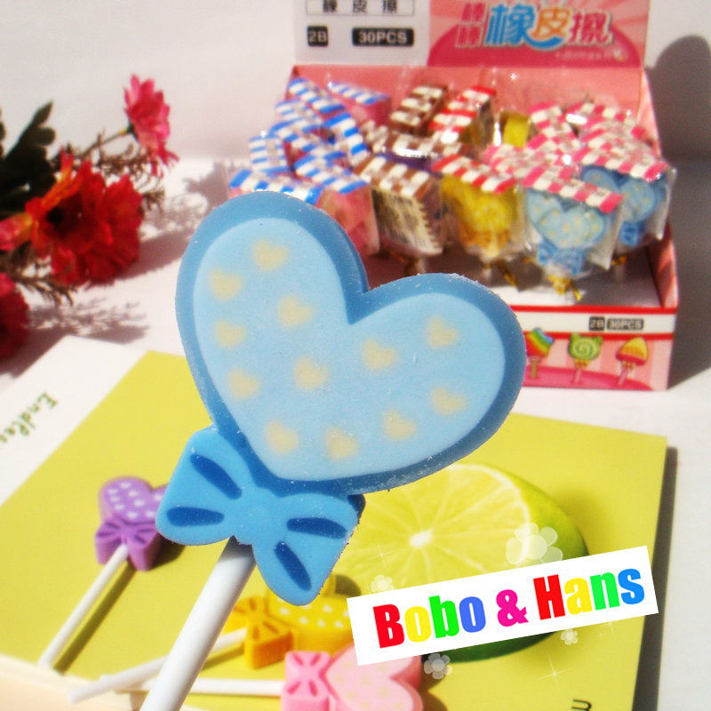 Free Shipping / New Cute Color heart shape eraser / Kid eraser / Wholesale(China (Mainland))