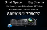 Short throw DLP projector Anis 4500lumens 80'' @ 1m Max 300'' @ 3.8m