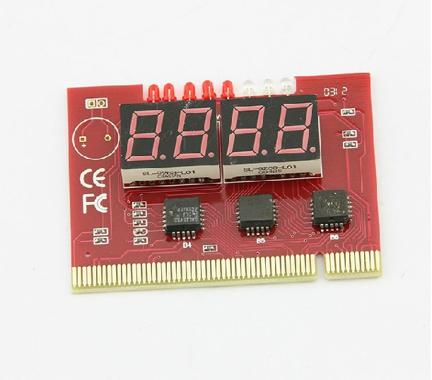 Free Shipping Diagnostic Analyzer Tester PCI Card for PC 4-digit Code Mainboard High quality(China (Mainland))