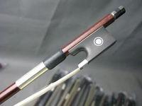 Quality 3pcs brazilwood 4/4 student viola bow,ebony frog